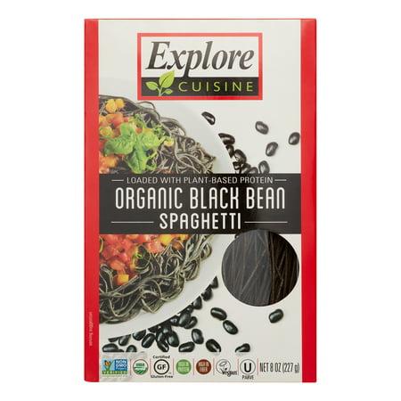(6 Pack) Explore Cuisine Organic Gluten Free Pasta, Black Bean Spaghetti Shape, 8 Oz ()
