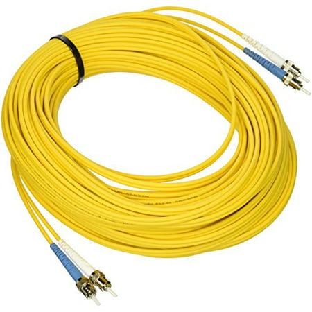 30m ST-ST 9/125 OS2 Duplex Single-Mode Fiber Optic Cable - Plenum CMP-Rated - - 125 Plenum Rated Single