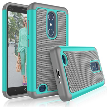 ZTE Blade X Max Case, ZTE Blade X Max Case For Girls, Tekcoo [Tmajor] Shock Absorbing [Turquoise] Adorable Soft Rubber Silicone Plastic Scratch Resistant Defender Bumper Hard Cases Cover For ZTE Z983