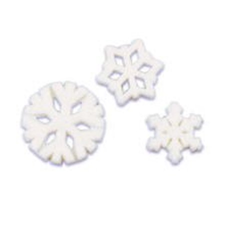 - SnowFlakes Edible Sugar Cupcake & Cake Decoration Topper-Pack of 16