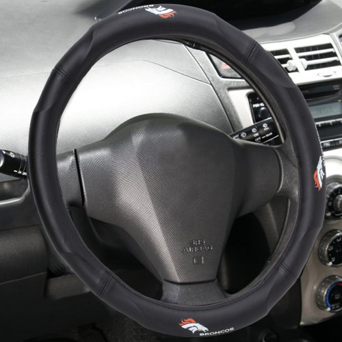 Denver Broncos Wordmark Steering Wheel Cover - No Size