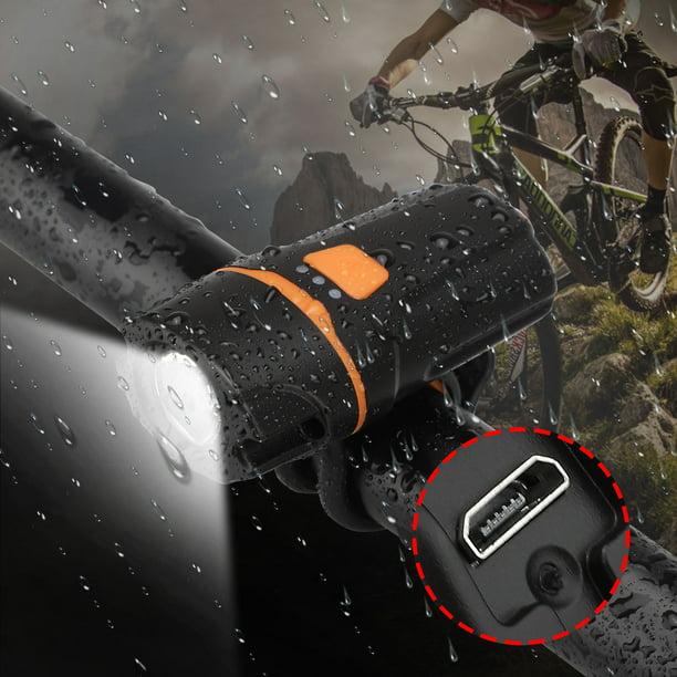 1200 Lumen Bike Headlights USB Recharge Glare Waterproof LED  Night Riding Light