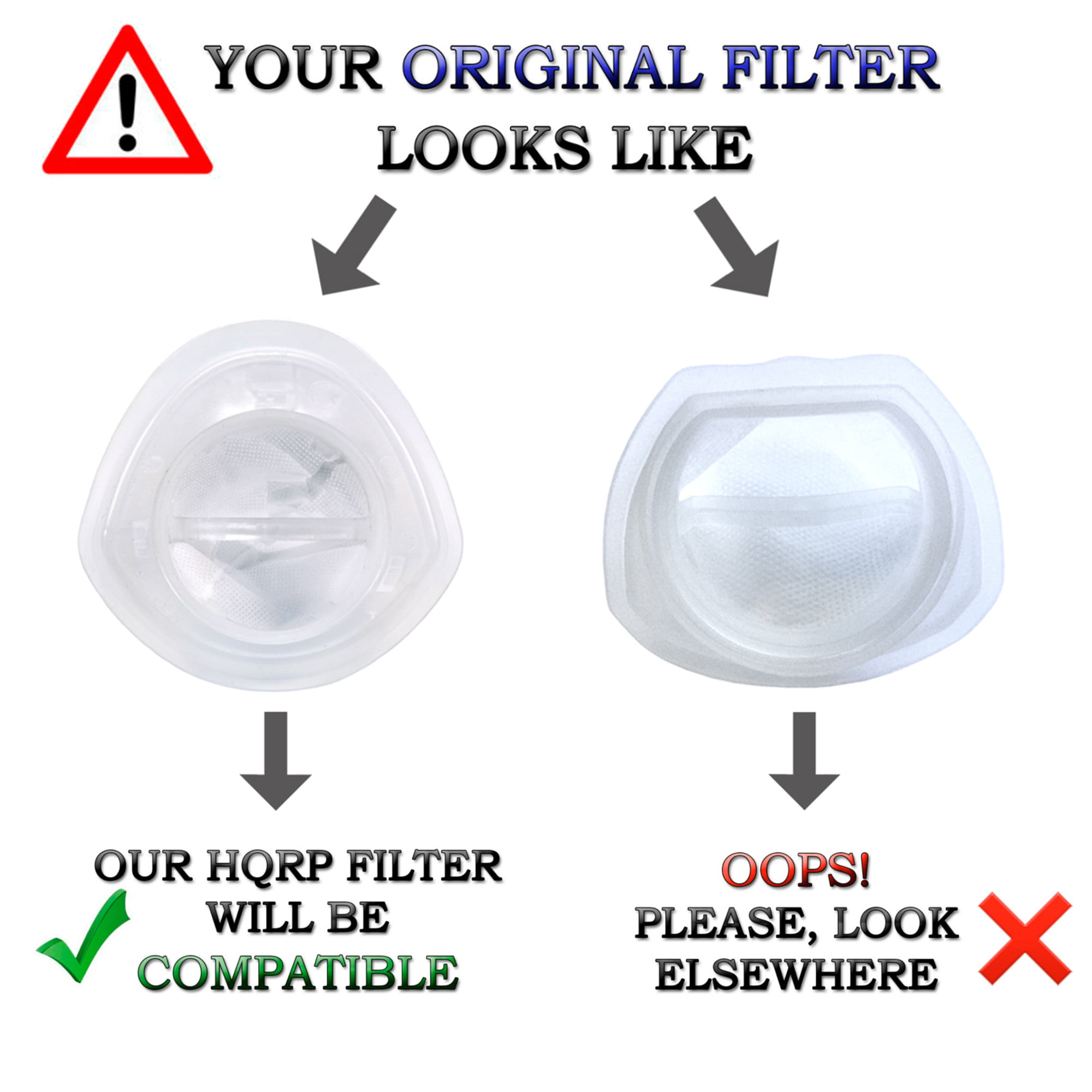 HQRP Filter for Black /& Decker Lithium Hand Vacuum Cleaners EVF100 Replacement