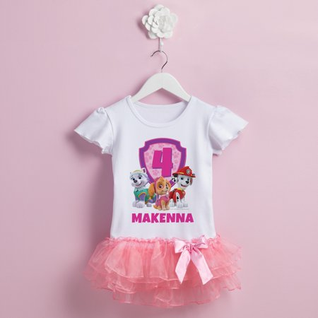 669199447 PAW Patrol - Personalized PAW Patrol Birthday Pups Toddler Tutu T-Shirt -  Walmart.com