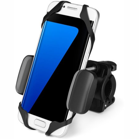 Universal Bike Phone Mount Holder Adjustable - Handlebar Cradle Clamp for Bicycle Motorcycle Smartphone Device Rotatable Fit iPhone 11 X XR/ 8 7 6s Plus, Galaxy S10 S9, Holds Phone Up to 3.5