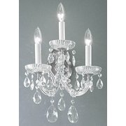 11 in. Maria Theresa Wall Sconce in Chrome Finish (Crystalique)