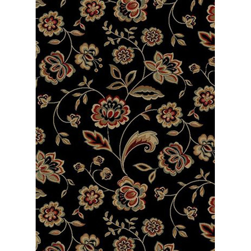 Mayberry Rug City Black Flora Area Rug