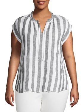 118ef7fc4f Lord   Taylor Premium Womens Plus Tops   T-Shirts - Walmart.com