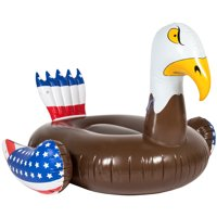 Best Choice Products Giant Inflatable Floating Patriotic American Bald Eagle Bird Pool Party Float Raft