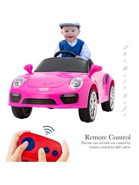 Uenjoy 6V Kids Ride on Toys Electric Battry-Powered Car Motorized Vehicles Remote Control 2 Speed Pink
