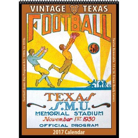 Texas Vintage Football Wall Calendar - Walmart.com