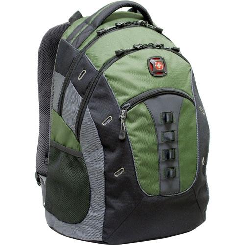 "SwissGear GRANITE GA-7335-07F00 Carrying Case (Backpack) for 15.6"" Notebook - Green - Polyester, Vinyl - 20.8"" Height x 2"" Width x 14"" Depth"