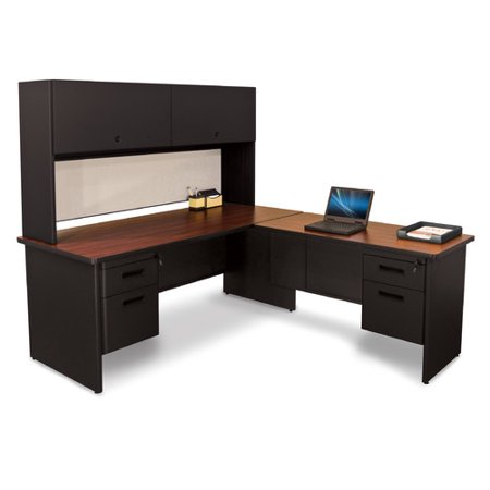 marvel office furniture pronto lock and drawers l shape executive desk with hutch. Black Bedroom Furniture Sets. Home Design Ideas