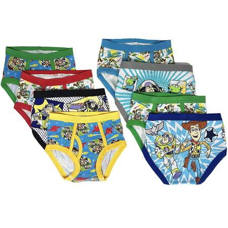 Toy Story Boys Kids Underwear - 8-Pack Toddler/Little Kid/Big Kid Size Briefs Woody Buzz Lightyear - Boy Kids