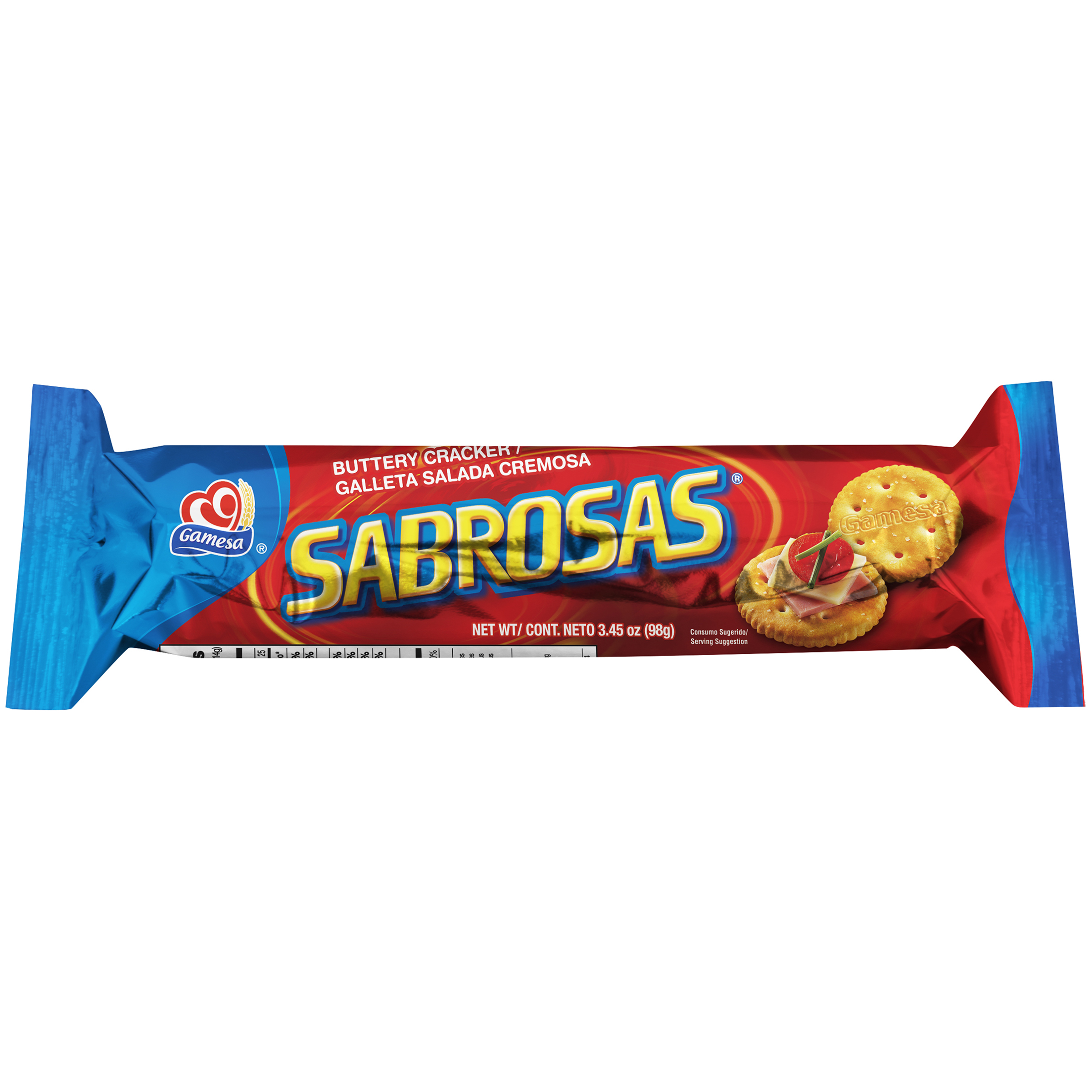 Gamesa Sabrosas Buttery Crackers, 3.45 Oz.