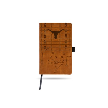 Texas Longhorns Laser Engraved Brown Notepad With Elastic Band Texas Longhorn Band