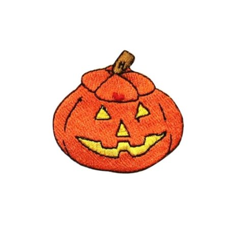 ID 0811B Happy Jack O Lantern Patch Halloween Night Embroidered Iron On - Jack Happy Halloween