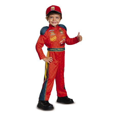 Cars 3 - Lightning Mcqueen Classic Toddler Costume - Lightening Mcqueen Costume