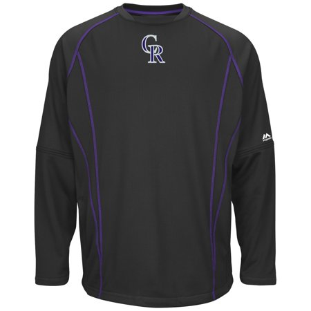 Colorado Rockies Majestic MLB Authentic On-Field Crew Pullover Sweatshirt by