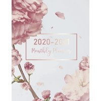 2020-2021 Daily Monthly Calendar Planner 8.5x11, 24 Months Jan 2020 to Dec 2021: 2020-2021 Monthly Planner: Marble Flower Cover - 2 Year Calendar 2020-2021 Monthly - 24 Months Agenda Planner wtth Holi