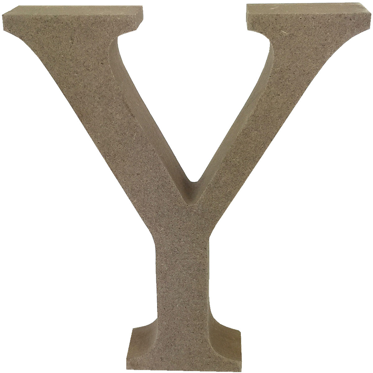 Smooth MDF Blank Shape-Serif Letter Y