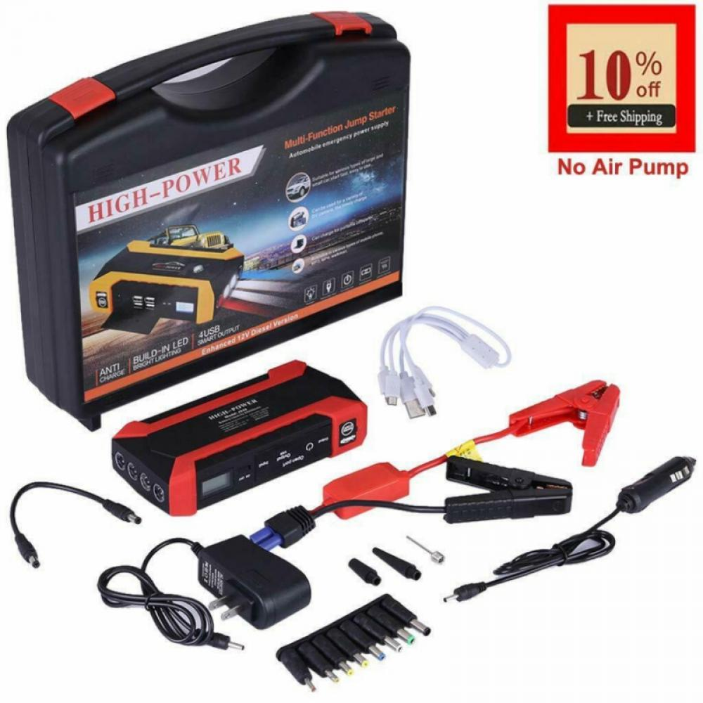 THEHOME 1000A 20000MAH Car Jump Starter,Emergency Battery car Starter Portable Charger Battery Starter for Car with LED Flash Light