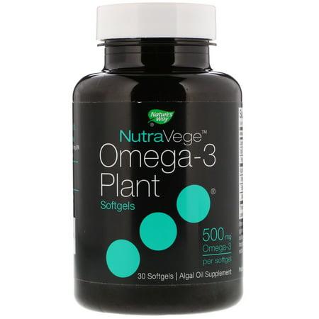 Plant Based Omega 3 - Ascenta  NutraVege  Omega-3 Plant  500 mg  30 Softgels