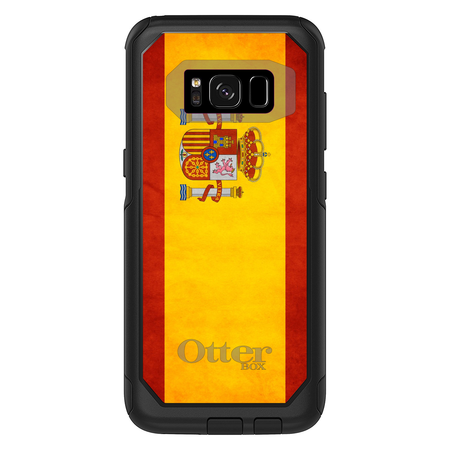DistinctInk Custom Black OtterBox Commuter Series Case for Samsung Galaxy S8...