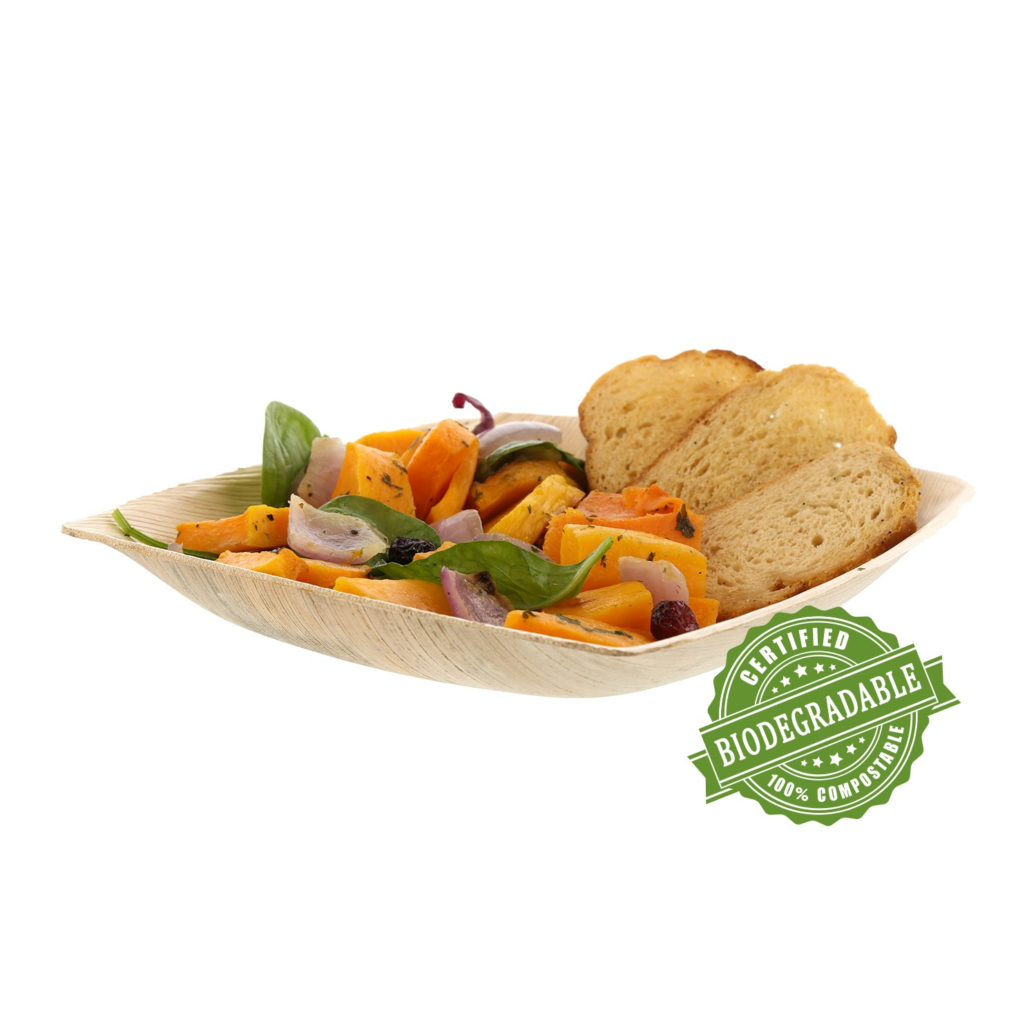 "CiboWares Premium 8"" Deep Square Palm Leaf Plate, Eco-Friendly, 25 Ct"
