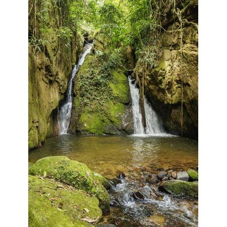 Nova Waterfall - Cachoeira Indiana Jones, waterfall in Boa Esperanca de Cima, Nova Friburgo Municipality, State of R Print Wall Art By Karol Kozlowski