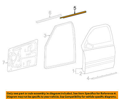 Dodge CHRYSLER OEM-Door Window Sweep-Belt Molding Weatherstrip Left 55276203AH