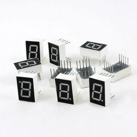Unique Bargains 10 Pcs Common Cathode 10 Pin 1 Bit 7 Segment 0.5