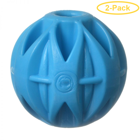 Image of JW Pet Megalast Rubber Dog Toy - Ball Large - 4 Diameter - Pack of 2