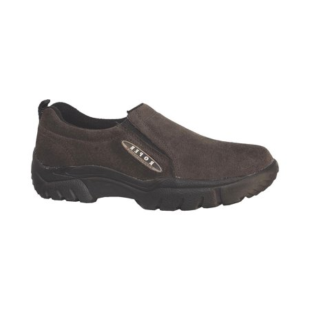 roper men's performance wide width suede slip-on shoes round toe - 09-020-0601-8202 br ()