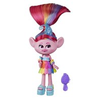DreamWorks Trolls Glam Poppy Fashion Doll with Dress, Shoes, and More