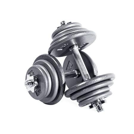 CAP Barbell 75 lb Adjustable Dumbbell Set - Pair (Cap Barbell Sportsgear 110 Lb Adjustable Dumbbell Set)