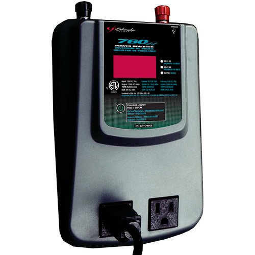 Schumacher 760 Watt Power Inverter w/Digital Display & Batt. Clamps