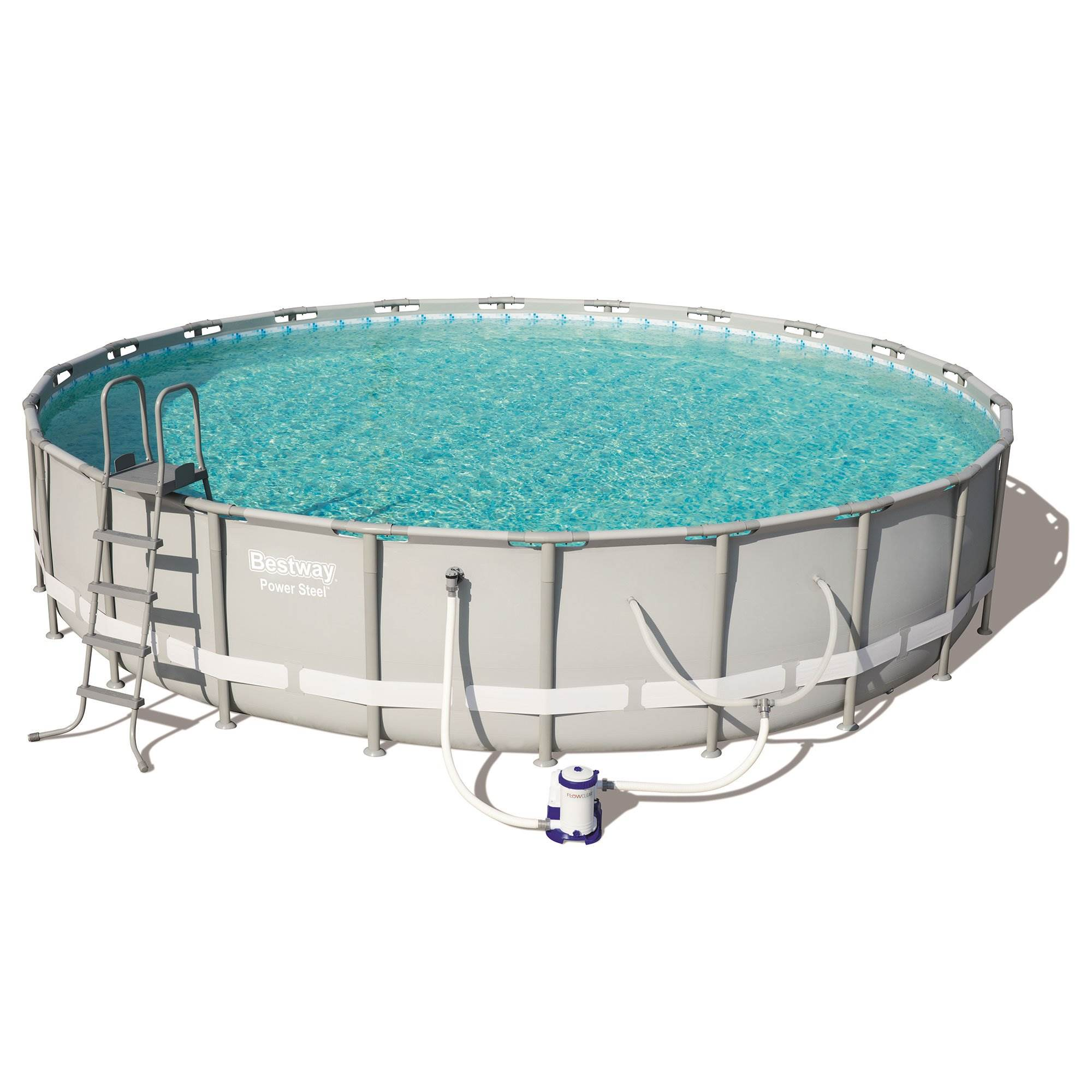 Bestway Power Steel 22/' x 12/' x 48/'/' Above Ground Oval Pool Set w//Ladder Replacement Cartridge Cover Repair Patch Filter Pump