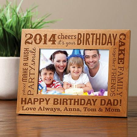 Personalized Birthday Words Wood Frame - Walmart.com