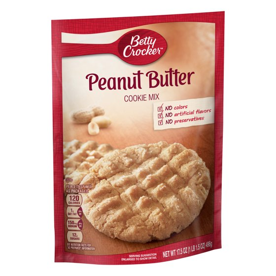 Betty Crocker Baking Mix Peanut Butter Cookie Mix 17 5 Oz Pouch