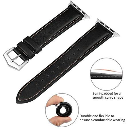 Compatible for Apple Watch Band 38mm 42mm 40mm 44mm, Fullmosa Labu Leather Apple Watch Band/Strap for iWatch Series - image 2 of 5