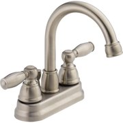 Peerless Apex Centerset Two Handle Bathroom Faucet in Brushed Nickel P299685LF-BN-W