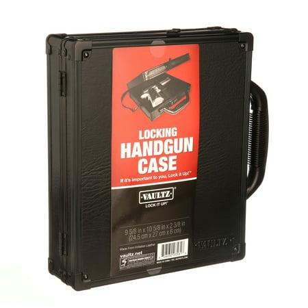 Vaultz Small Hard-Sided Handgun Case, Tactical Black