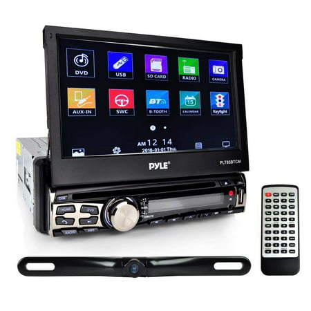 PYLE PLT85BTCM - Car Stereo Receiver System & Backup Camera Kit  Touch-Screen Headunit Radio CD/DVD Player | Bluetooth Wireless Streaming |  Hands-Free