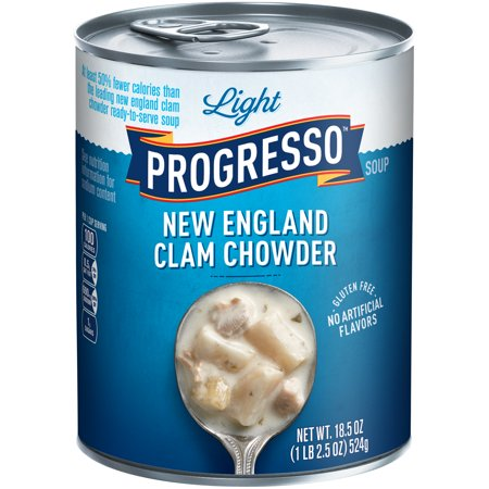 Progresso Light New England Clam Chowder Soup 18 5 Oz Can