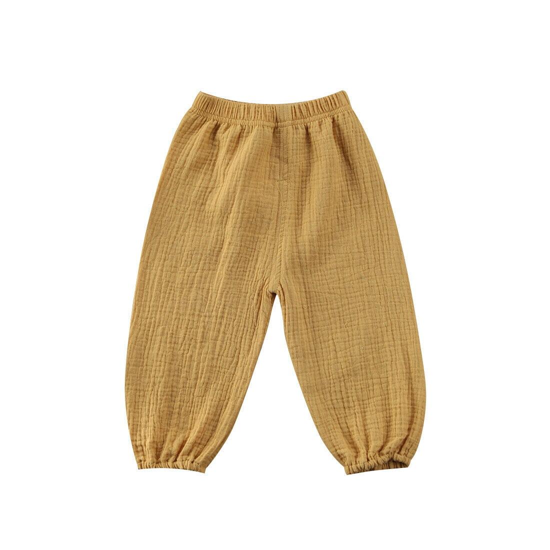 Kids Girls Boys Baby Trousers Harem Pants Casual Cotton Dance Leggings Bloomers