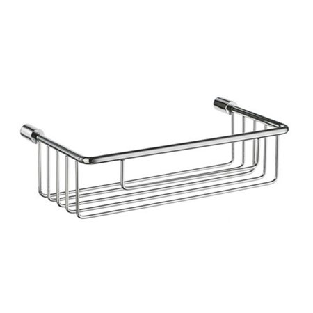 Smedbo DK1001 Sideline Soap Basket Straight 1 Level in Polished Chrome