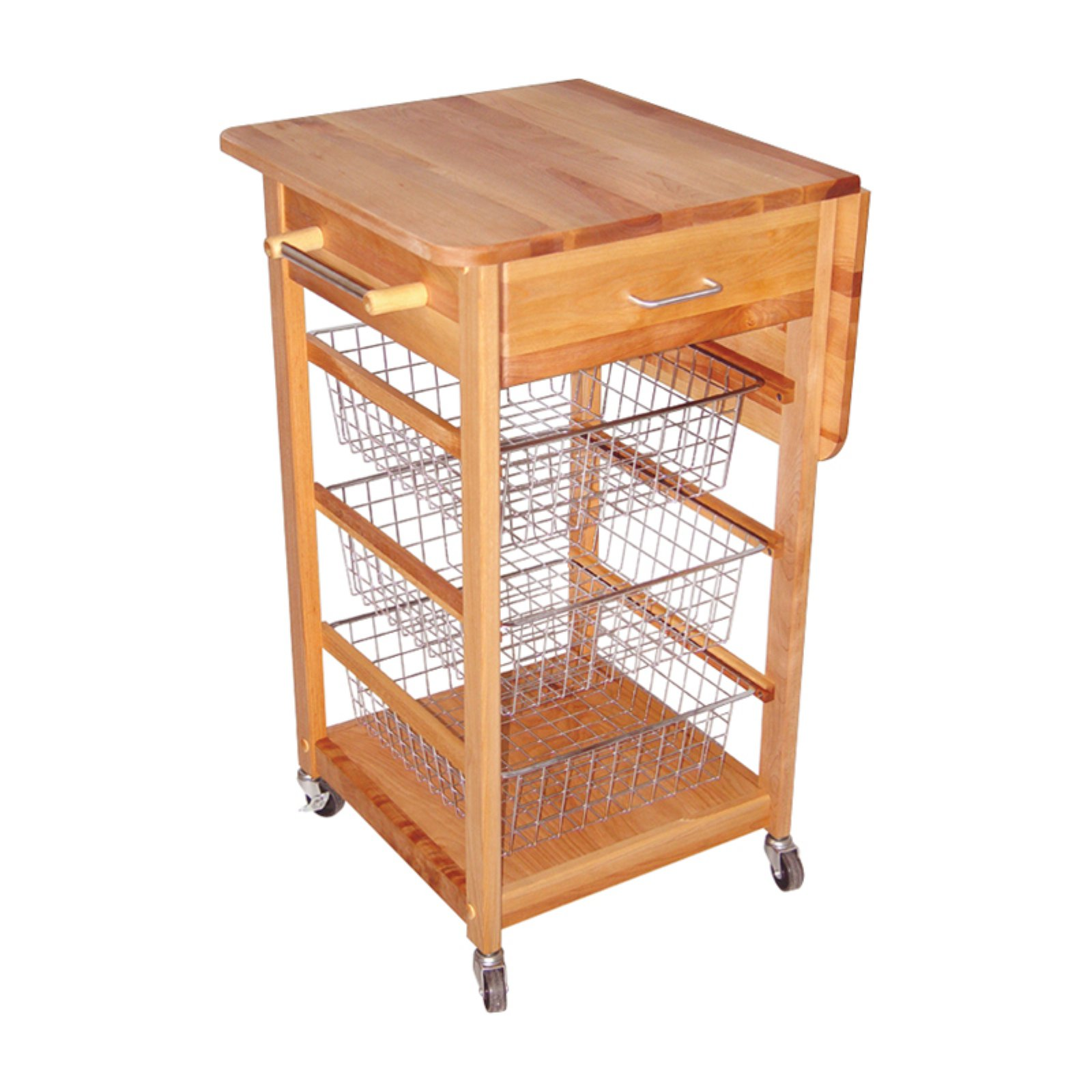 Chrome Wire Basket Kitchen Cart