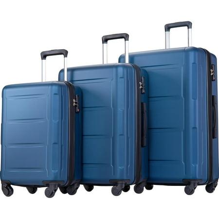 Hardside Spinner Lightweight Luggage Set Set of 3, Blue