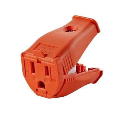 Leviton 3 Wire Replacement Female Electrical Connector - Orange